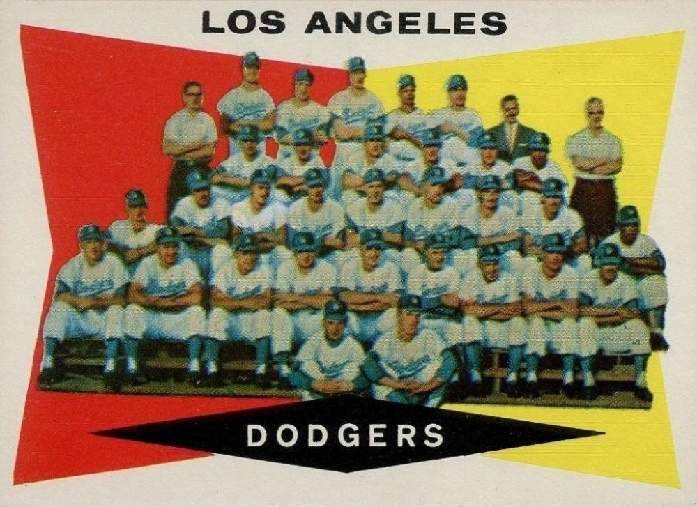 1960 Topps Los Angeles Dodgers Team #18 Baseball Card
