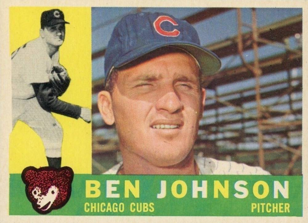 1960 Topps Ben Johnson #528 Baseball Card