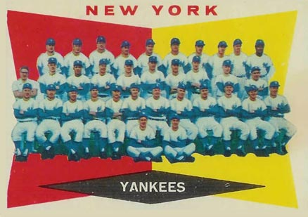 1960 Topps New York Yankees Team #332 Baseball Card