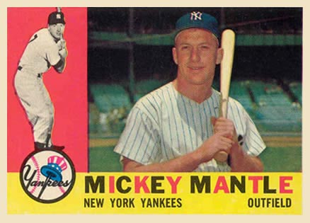 1960 Topps Mickey Mantle #350 Baseball Card
