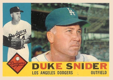 1960 Topps Duke Snider #493 Baseball Card