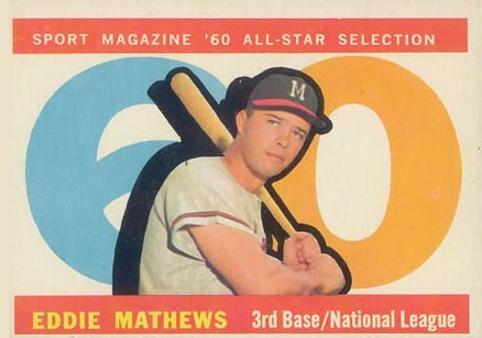 1960 Topps Eddie Mathews #558 Baseball Card