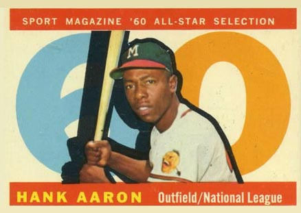 1960 Topps Hank Aaron #566 Baseball Card