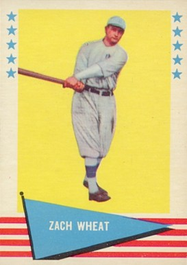 1961 Fleer Baseball Greats Zach Wheat #86 Baseball Card