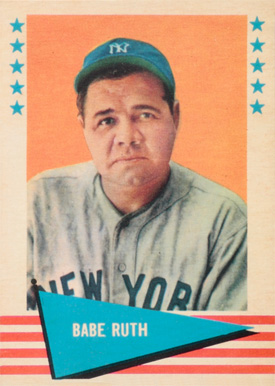 1961 Fleer Baseball Greats Babe Ruth #75 Baseball Card