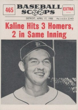1961 Nu-Card Baseball Scoops Kaline Hits 3 Homers in One Game #465 Baseball Card
