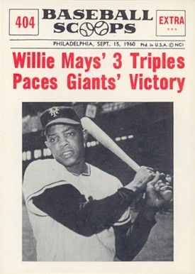 1961 Nu Card Baseball Scoops Baseball Card Set Vcp Price Guide