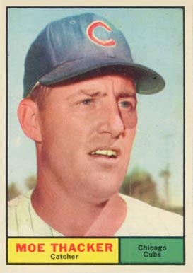 1961 Topps Moe Thacker #12 Baseball Card
