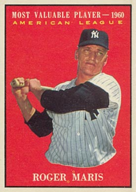 1961 Topps Roger Maris #478 Baseball Card