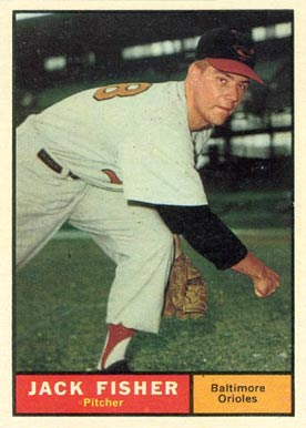 1961 Topps Jack Fisher #463-jack Baseball Card