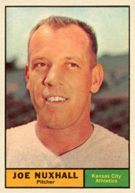 1961 Topps Joe Nuxhall #444 Baseball Card