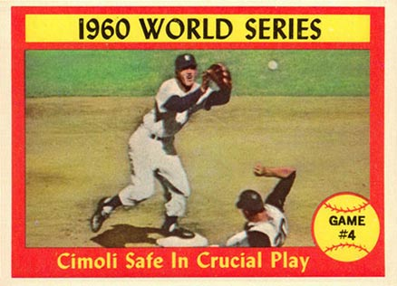 1961 Topps World Series Game #4 #309 Baseball Card