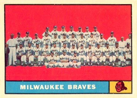 1961 Topps Milwaukee Braves Team #463-braves Baseball Card