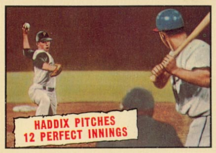 1961 Topps Haddix Pitches 12 Perfect Innings #410 Baseball Card