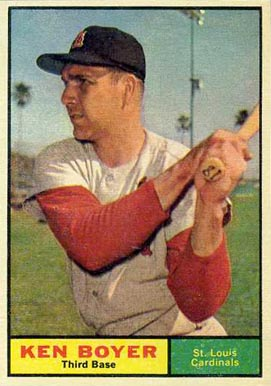1961 Topps Ken Boyer #375 Baseball Card