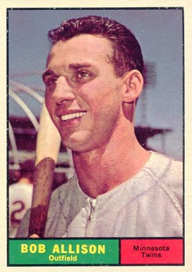 1961 Topps Bob Allison #355 Baseball Card