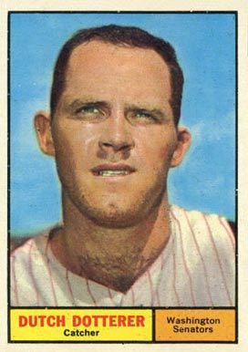 1961 Topps Dutch Dotterer #332 Baseball Card