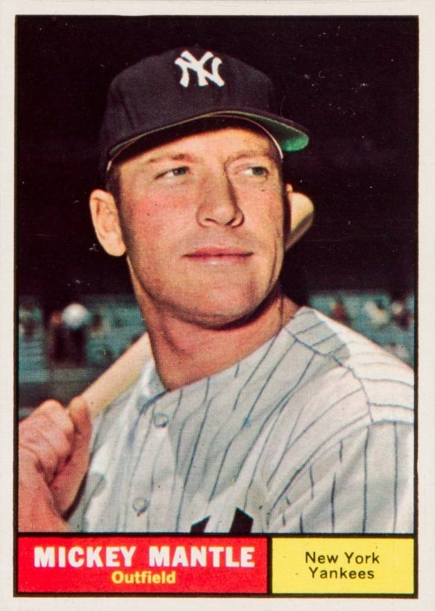 1961 Topps Mickey Mantle #300 Baseball Card