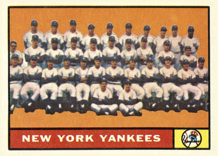 1961 Topps New York Yankees Team #228 Baseball Card