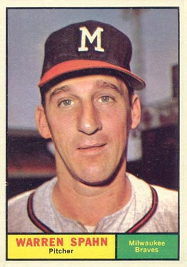1961 Topps Warren Spahn #200 Baseball Card