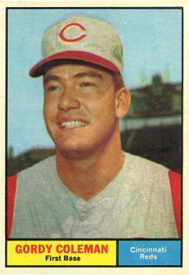 1961 Topps Gordy Coleman #194 Baseball Card