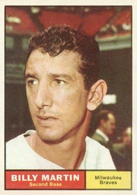 1961 Topps Billy Martin 89 Baseball Vcp Price Guide