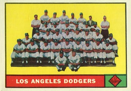 1961 Topps Los Angeles Dodgers Team #86 Baseball Card