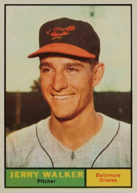 1961 Topps Jerry Walker #85 Baseball Card