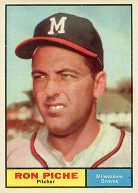 1961 Topps Ron Piche #61 Baseball Card