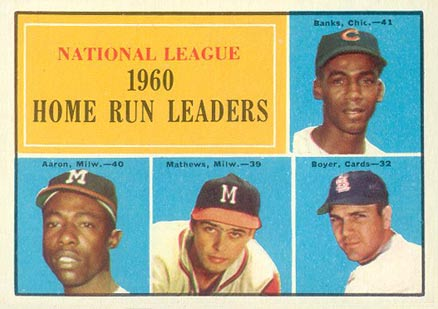 1961 Topps N.L. Home Run Leaders #43 Baseball Card