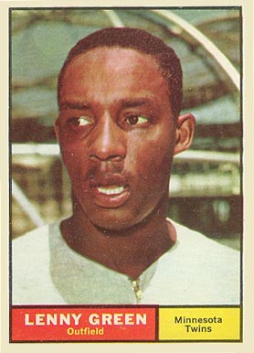 1961 Topps Lenny Green #4 Baseball Card