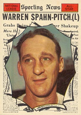 1961 Topps Warren Spahn #589 Baseball Card