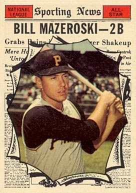 1961 Topps Bill Mazeroski #571 Baseball Card