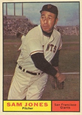 1961 Topps Sam Jones #555 Baseball Card