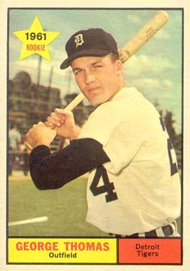 1961 Topps George Thomas #544 Baseball Card