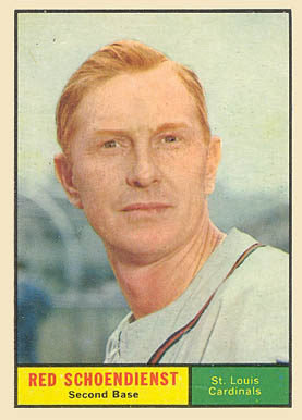 1961 Topps Red Schoendienst #505 Baseball Card