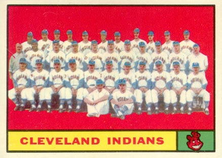 1961 Topps Cleveland Indians Team #467 Baseball Card