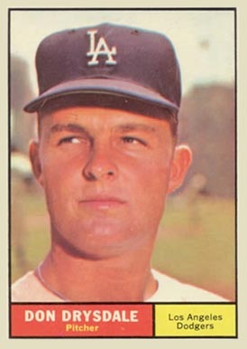 1961 Topps Don Drysdale #260 Baseball Card
