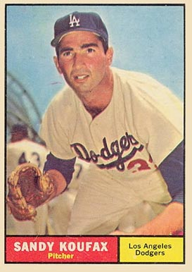 1961 Topps Sandy Koufax #344 Baseball Card