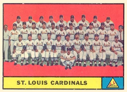 1961 Topps St. Louis Cardinals Team #347 Baseball Card