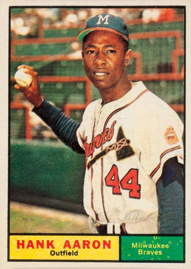 Hank Aaron Hall Of Fame Baseball Cards
