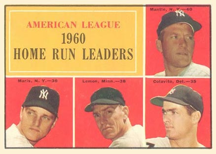 1961 Topps Mickey Mantle #44 Baseball Card