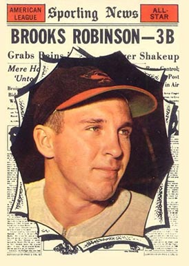 1961 Topps Brooks Robinson #572 Baseball Card