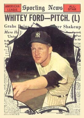 1961 Topps Whitey Ford #586 Baseball Card
