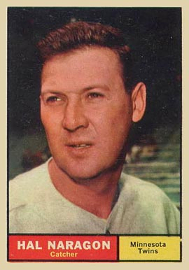 1961 Topps Hal Naragon #92 Baseball Card