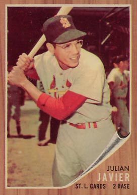 1962 Topps Julian Javier #118 Baseball Card
