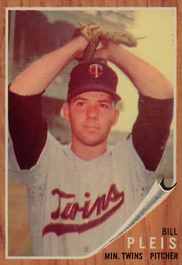 1962 Topps Bill Pleis #124 Baseball Card