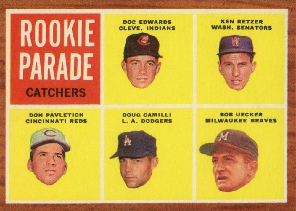 1962 Topps Rookie Parade Catchers #594 Baseball Card