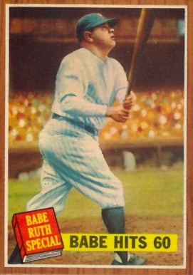 1962 Topps Babe Ruth #139-ruth,no pole Baseball Card
