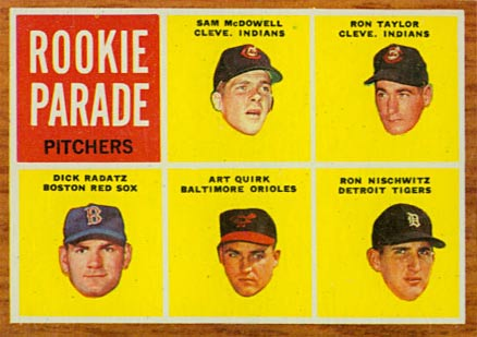 1962 Topps Rookie Parade Pitchers #591 Baseball Card